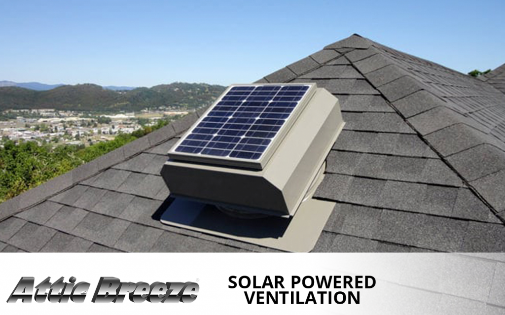 Attic Breeze solar powered ventilation